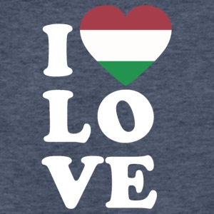 I love Hungary - Fitted Cotton/Poly T-Shirt by Next Level