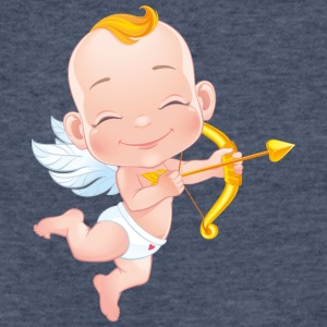 amourchik-smile-cupid-wings-heart-bow - Fitted Cotton/Poly T-Shirt by Next Level
