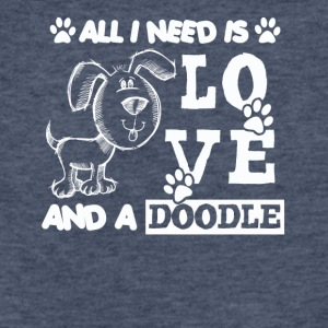 All You Need Is Love And A Doodle Shirt - Fitted Cotton/Poly T-Shirt by Next Level