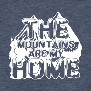 The Mountains Are My Home T Shirt - Fitted Cotton/Poly T-Shirt by Next Level