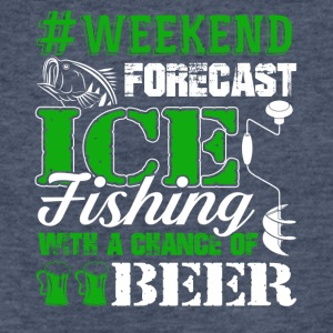 Ice Fishing Weekend Forecast Tee Shirt - Fitted Cotton/Poly T-Shirt by Next Level