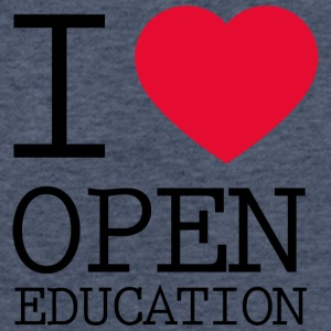 I Love Open Education - Fitted Cotton/Poly T-Shirt by Next Level