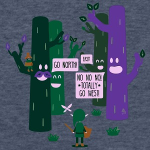 The Lost Woods Are Jerks - Fitted Cotton/Poly T-Shirt by Next Level