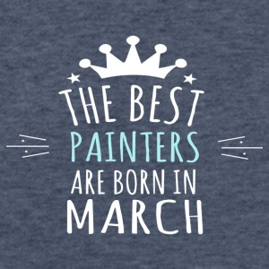 Best PAINTERS are born in march - Fitted Cotton/Poly T-Shirt by Next Level