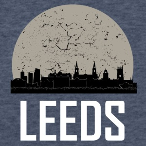 Leeds Full Moon Skyline - Fitted Cotton/Poly T-Shirt by Next Level