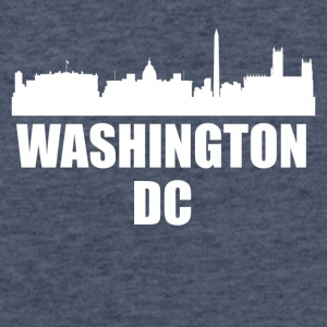 Washington DC DC Skyline - Fitted Cotton/Poly T-Shirt by Next Level