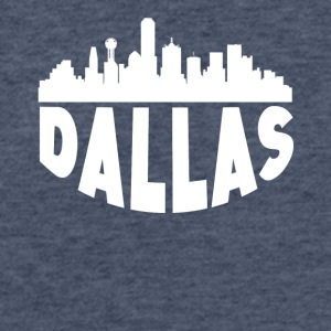 Dallas TX Cityscape Skyline - Fitted Cotton/Poly T-Shirt by Next Level