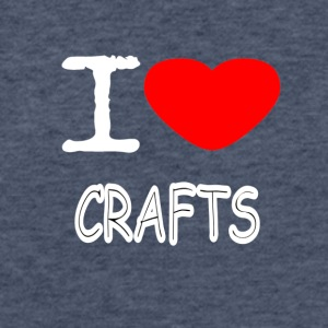 I LOVE CRAFTS - Fitted Cotton/Poly T-Shirt by Next Level