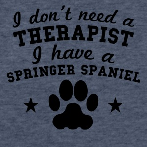 I Don't Need Therapist I Have A Springer Spaniel - Fitted Cotton/Poly T-Shirt by Next Level