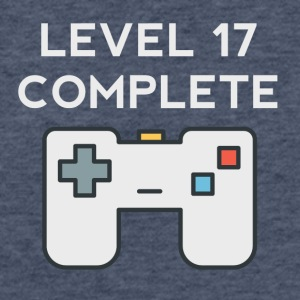 Level 17 Complete 17th Birthday - Fitted Cotton/Poly T-Shirt by Next Level