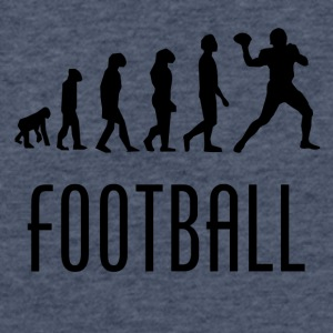 Football Evolution Quarterback - Fitted Cotton/Poly T-Shirt by Next Level