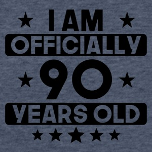 I Am Officially 90 Years Old 90th Birthday - Fitted Cotton/Poly T-Shirt by Next Level