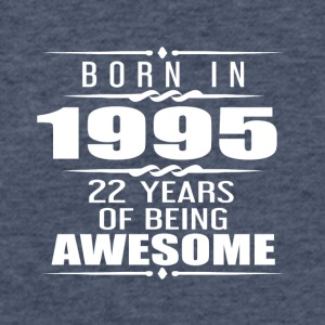 Born in 1955 22 Years of Being Awesome - Fitted Cotton/Poly T-Shirt by Next Level