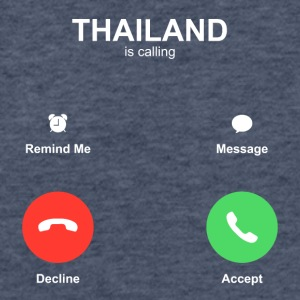 thailand call Accept Decline - Fitted Cotton/Poly T-Shirt by Next Level