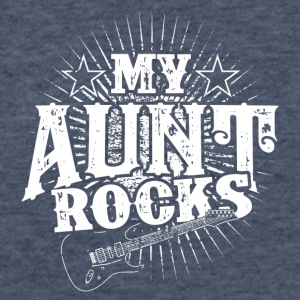 Aunt! Rocks! Funny! - Fitted Cotton/Poly T-Shirt by Next Level