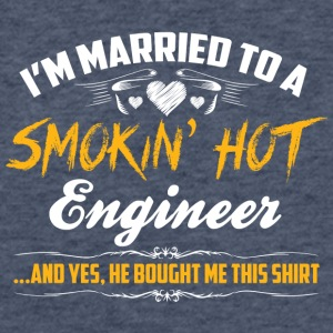 engineer married - Fitted Cotton/Poly T-Shirt by Next Level