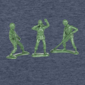 3 GREEN ARMY MEN - Fitted Cotton/Poly T-Shirt by Next Level
