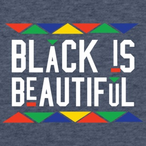 Black Is Beautiful (White Letters) - Fitted Cotton/Poly T-Shirt by Next Level