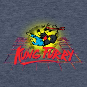 Kung Furry - Fitted Cotton/Poly T-Shirt by Next Level