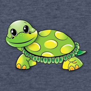 Funny Sweet Turtle - Fitted Cotton/Poly T-Shirt by Next Level