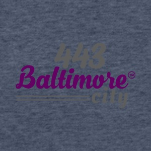 443 BALTIMORE CITY - Fitted Cotton/Poly T-Shirt by Next Level