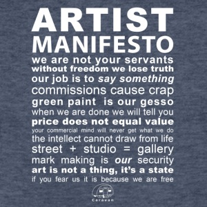 Artist Manifesto - Fitted Cotton/Poly T-Shirt by Next Level