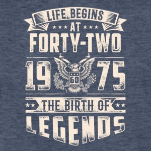 Life Begins At Forty Two Tshirt - Fitted Cotton/Poly T-Shirt by Next Level