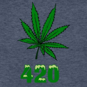 420 POT MARIJUANNA WEED LEAF - Fitted Cotton/Poly T-Shirt by Next Level