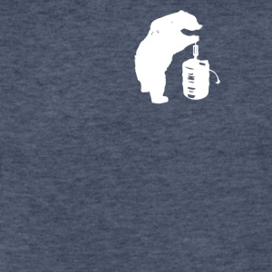Bear and Beer Keg - Fitted Cotton/Poly T-Shirt by Next Level