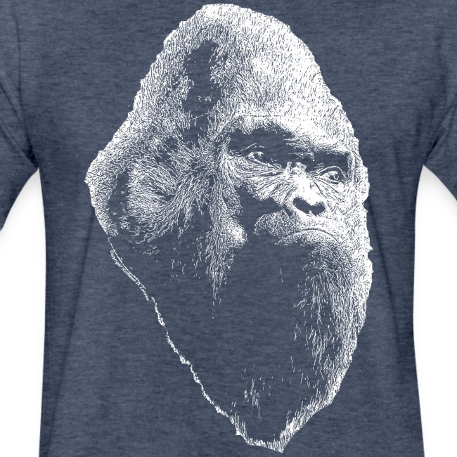 Sasquatch Bigfoot Portrait White Print Shirt