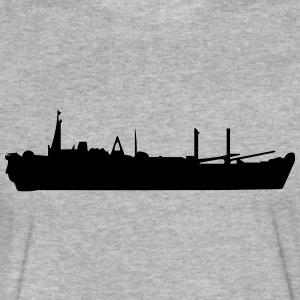 Vector Navy warship Silhouette - Fitted Cotton/Poly T-Shirt by Next Level