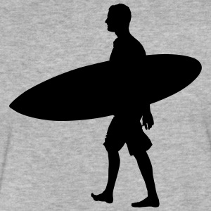 Surfer with surfboard - Fitted Cotton/Poly T-Shirt by Next Level