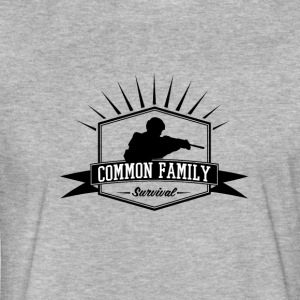 Common Family Survival YouTube Channel Logo - Fitted Cotton/Poly T-Shirt by Next Level
