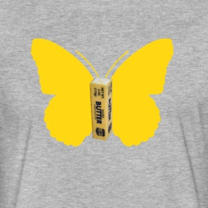 BUTTER FLY REQUEST - Fitted Cotton/Poly T-Shirt by Next Level