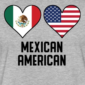Mexican American Heart Flags - Fitted Cotton/Poly T-Shirt by Next Level