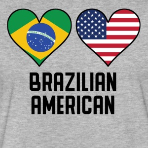 Brazilian American Heart Flags - Fitted Cotton/Poly T-Shirt by Next Level