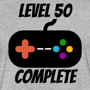 Level 50 Complete 50th Birthday - Fitted Cotton/Poly T-Shirt by Next Level