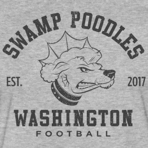 Washington Swamp Poodles - Gray Stencil - Fitted Cotton/Poly T-Shirt by Next Level