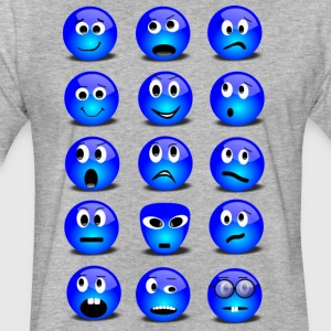 Emotional Emoticons - Fitted Cotton/Poly T-Shirt by Next Level