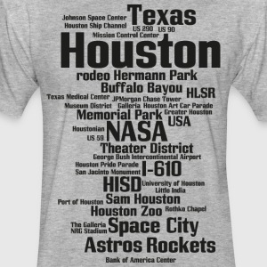 Houston (Space City, Texas, USA) - Fitted Cotton/Poly T-Shirt by Next Level