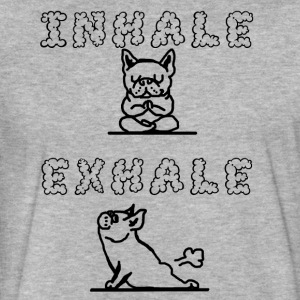 Inhale Exhale - Fitted Cotton/Poly T-Shirt by Next Level