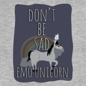 The Sad Emo Unicorn - Fitted Cotton/Poly T-Shirt by Next Level