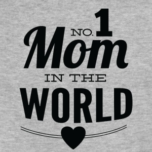 number_1_mom_in_the_world_white - Fitted Cotton/Poly T-Shirt by Next Level