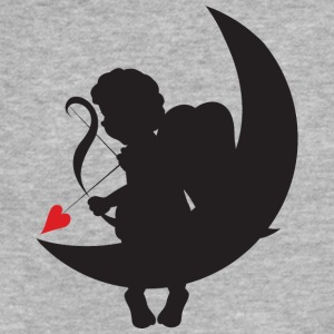 amour-heart-valentines-day-love-cupid-moon - Fitted Cotton/Poly T-Shirt by Next Level