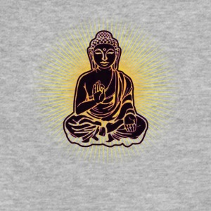 Buddha Power Black - Fitted Cotton/Poly T-Shirt by Next Level