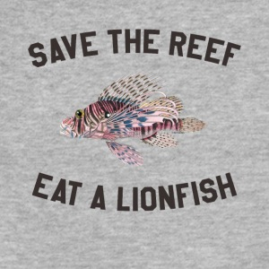 Save The Reef Eat A Lionfish - Fitted Cotton/Poly T-Shirt by Next Level
