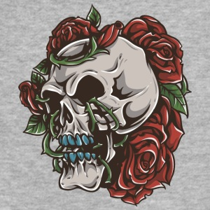 roses_and_skull - Fitted Cotton/Poly T-Shirt by Next Level