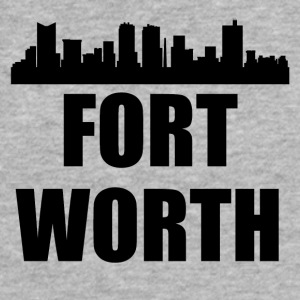 Fort Worth TX Skyline - Fitted Cotton/Poly T-Shirt by Next Level