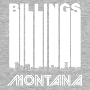 Retro Billings Montana Skyline - Fitted Cotton/Poly T-Shirt by Next Level