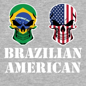 Brazilian American Flag Skulls - Fitted Cotton/Poly T-Shirt by Next Level